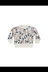 rylee cru rylee + cru vintage rose knit pullover