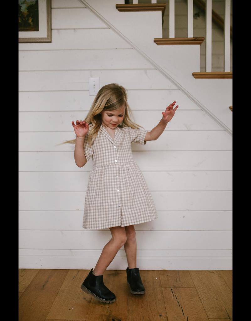 rylee cru rylee + cru gingham jeanette dress