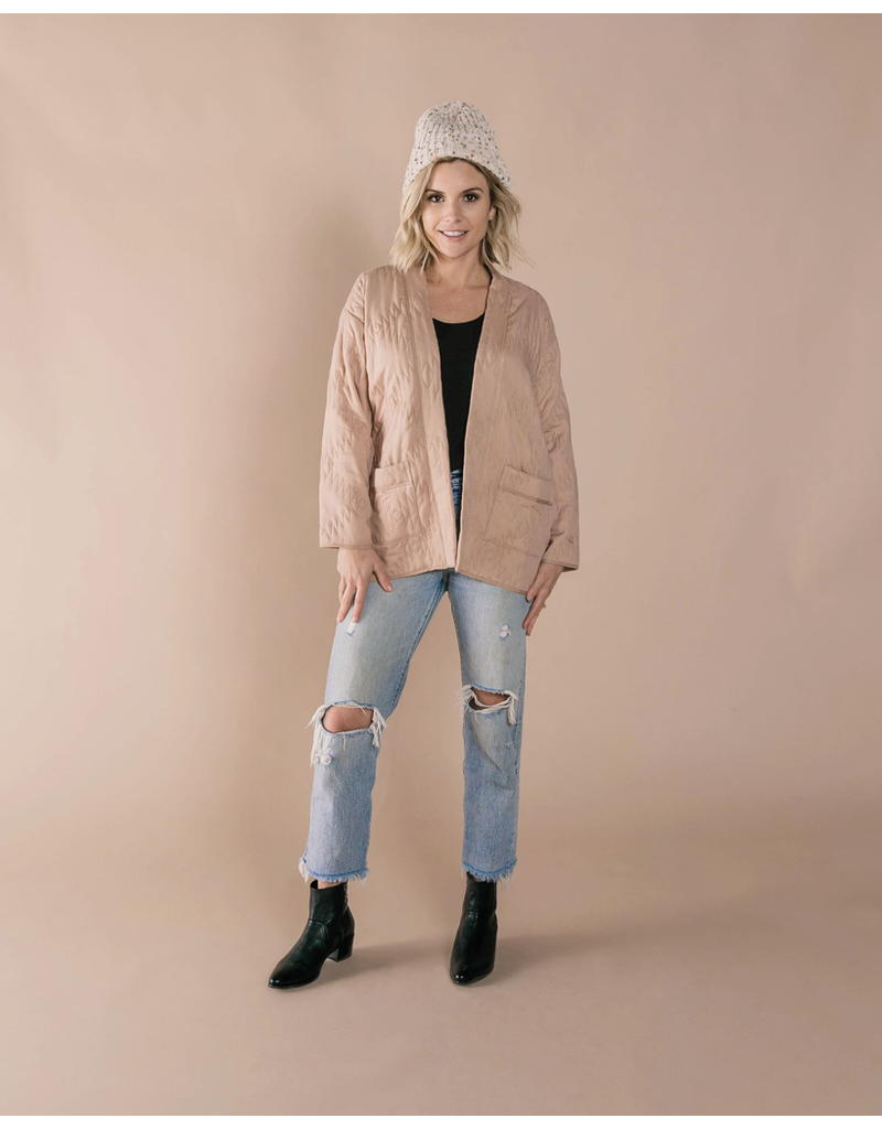 rylee cru rylee + cru womens quilted jacket