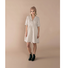 rylee cru rylee + cru womens gingham jeanette dress