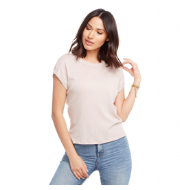chaser chaser la crew neck drop shoulder tee