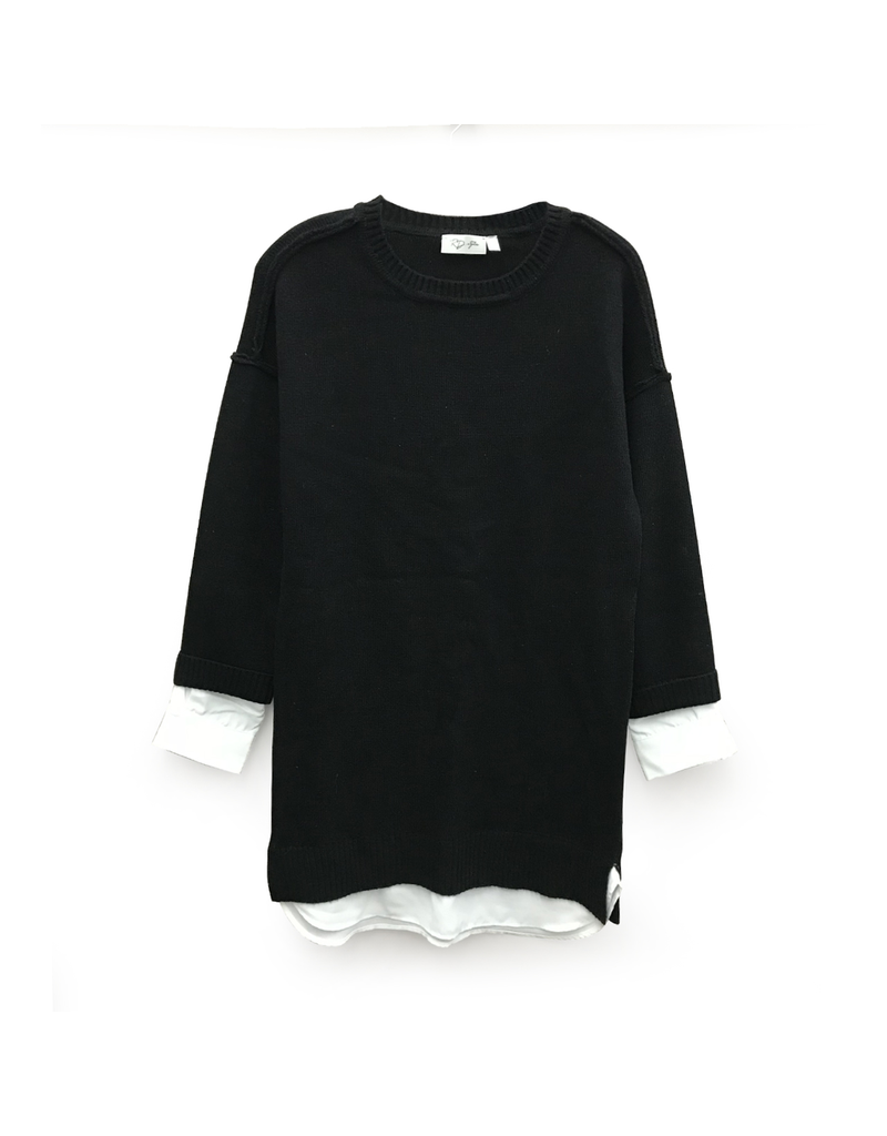 rd style rd style knit dress with shirt bottom