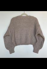 flight lux storia sparkle oversize crop sweater