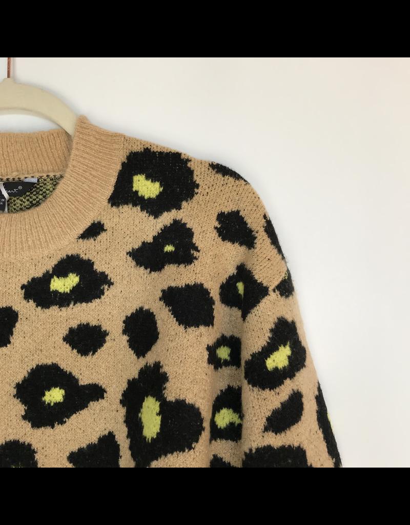flight lux velvet heart animal print sweater