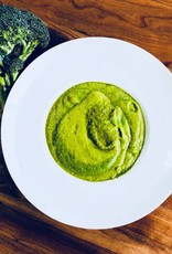 Potage brocoli, patate douce et épinards