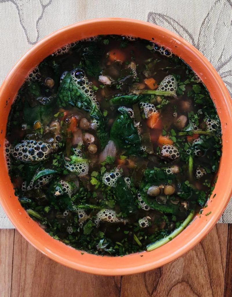 Soupe de lentilles à la libanaise
