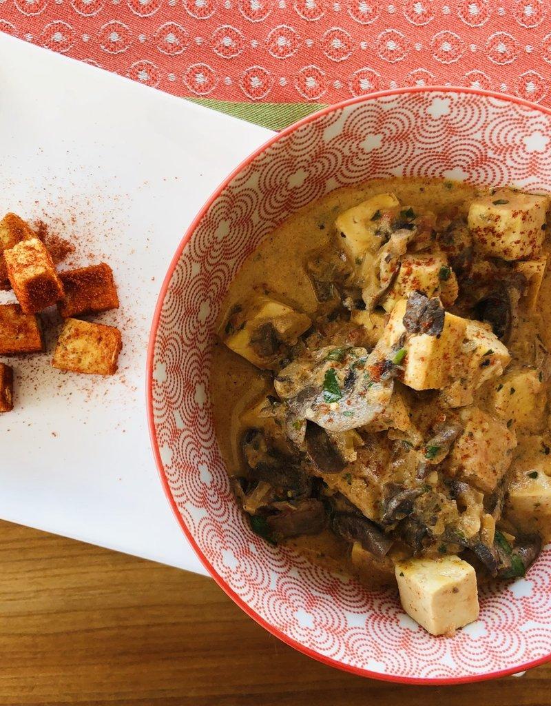 Tofu au paprika et champignons