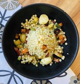Salade de couscous israélien à l'italienne