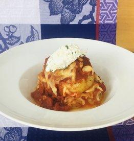 Duo de rotolos végétariens (lasagne à l'envers)