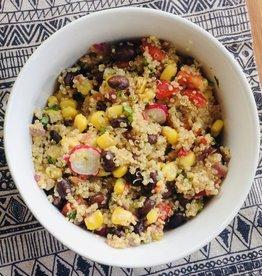 Salade mexicaine de maïs, quinoa, lime et chipotle