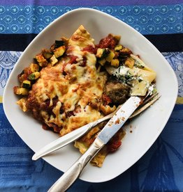 Lasagne aux boulettes et épinards