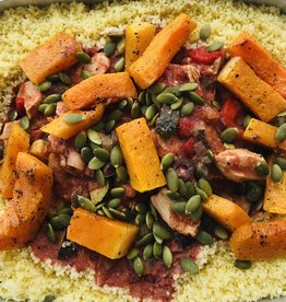 Poulet à la provençale et couscous