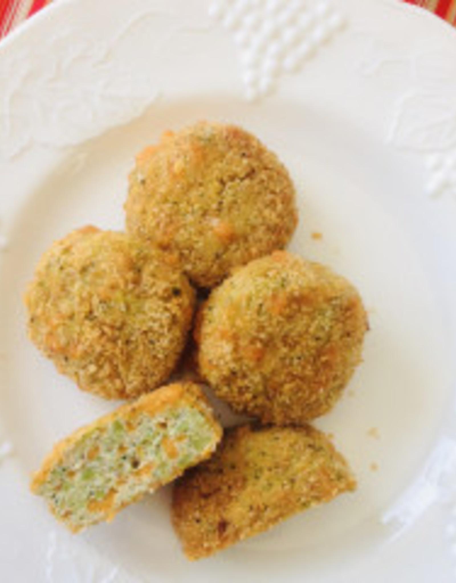 Grosses croquettes de poulet, brocoli et cheddar