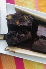 Brownie Jaffa (courge, chocolat et orange)