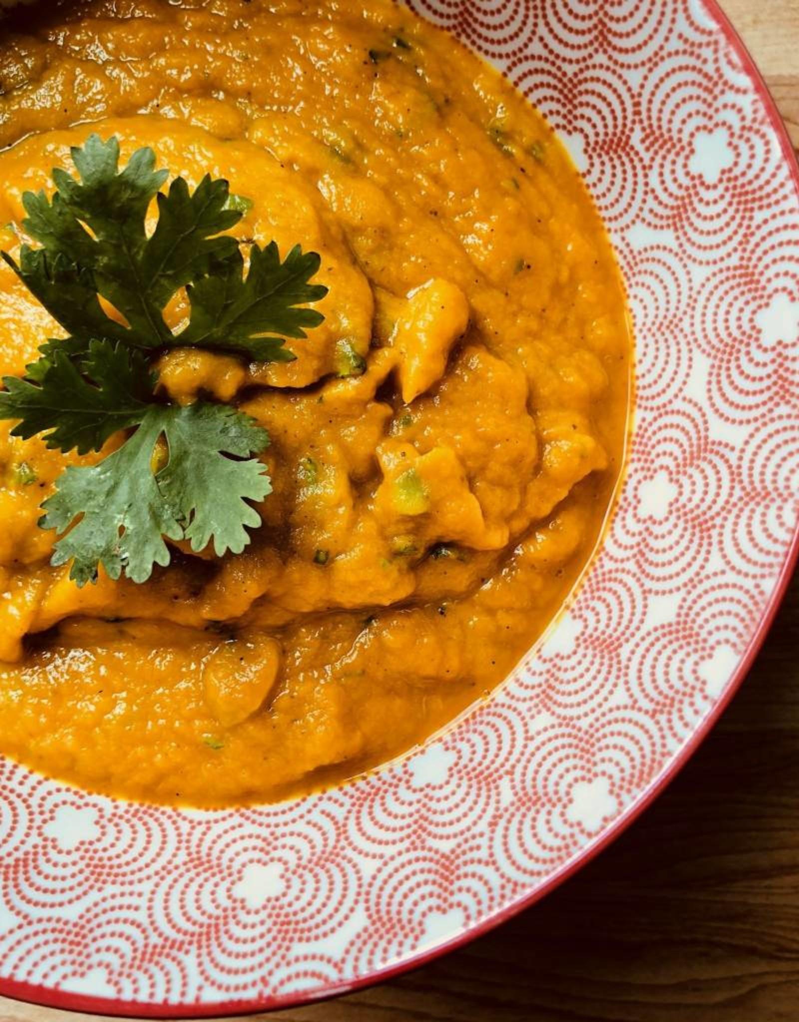 Potage carotte, gingembre et orange