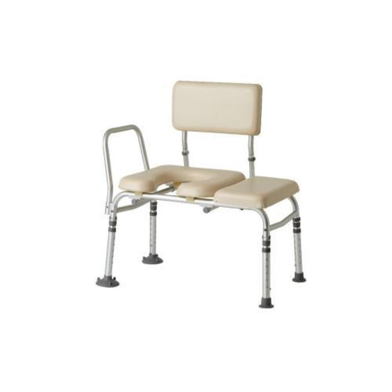 Medline Medline Combination Padded Seat Transfer Bench With Commode Opening