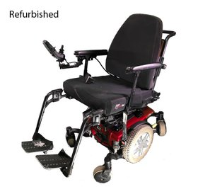 Quantum Refurbished Quantum Q6 Edge Power Chair - Red Base, Black Seat