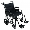 "ProBasics ProBasics 22"" Bariatric Steel Transport Chair, Silver Vein"