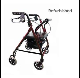 """Drive Medical Refurbished Drive Burgundy Rollator 6"""" Wheels"""
