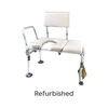 Refurbished Padded Transfer Bath Bench with Commode Opening