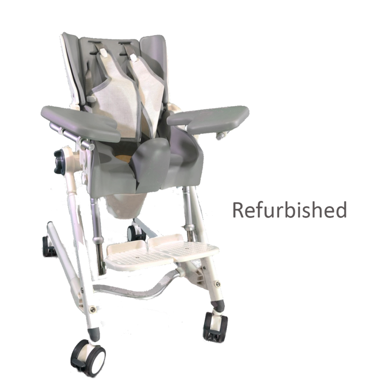 R82 Refurbished R82 Flamingo Pediatric Shower Chair with Commode