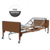 ProBasics ProBasics Semi-Electric Homecare Bed Package with Half Rails & Innerspring Mattress