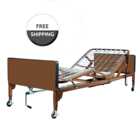 ProBasics ProBasics Semi-Electric Hospital Bed Package with Half Rails & Innerspring Mattress