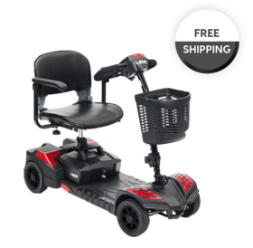 Drive Medical Drive Spitfire Compact Travel Power Scooter, 4 Wheel