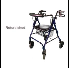 "Refurbished Blue Rollator 8"" Wheels"