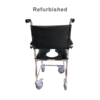Refurbished Padded Vinyl Rolling Shower Chair with Commode Opening