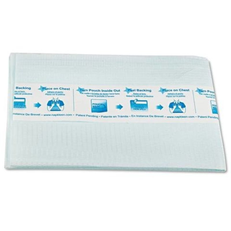 Napkkleen Hermell Napkleen Disposable Adult Bib, Blue, Large, 50pk