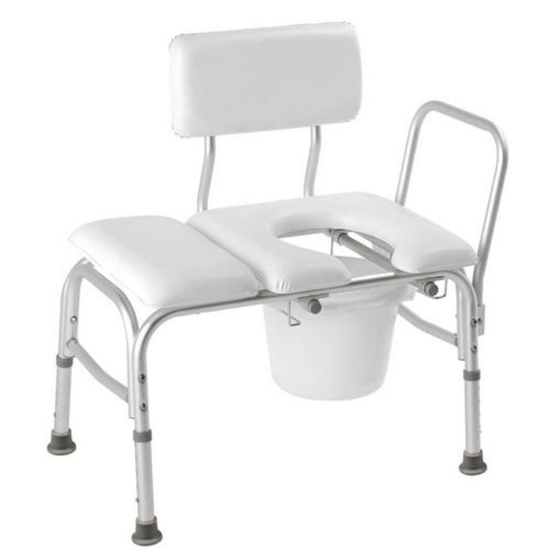 Carex Carex Deluxe Padded Transfer Bench With Commode Opening
