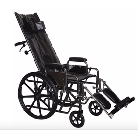 Refurbished Reclining Manual Wheelchair with Elevating Foot Rests