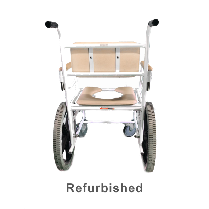 Refurbished ActiveAid Shower Chair with Commode and Wheelchair Wheels