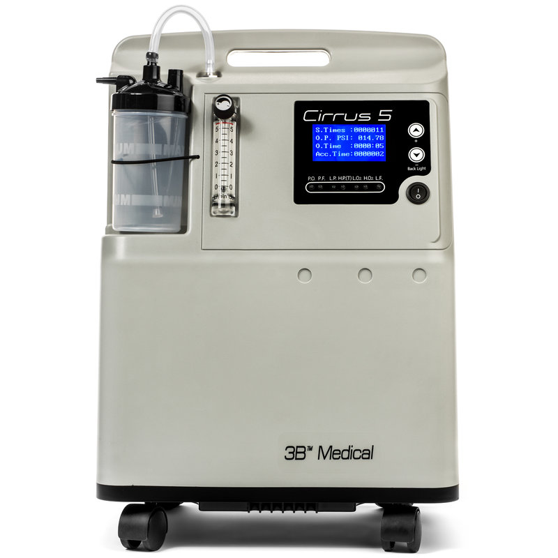 3B Medical Cirrus 5 - 5 LPM Stationary Oxygen Concentrator With Internal Oxygen Monitor