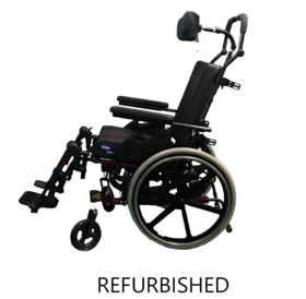 Refurbished Invacare Quickie Iris Tilt in Space with Elevating Leg Rests