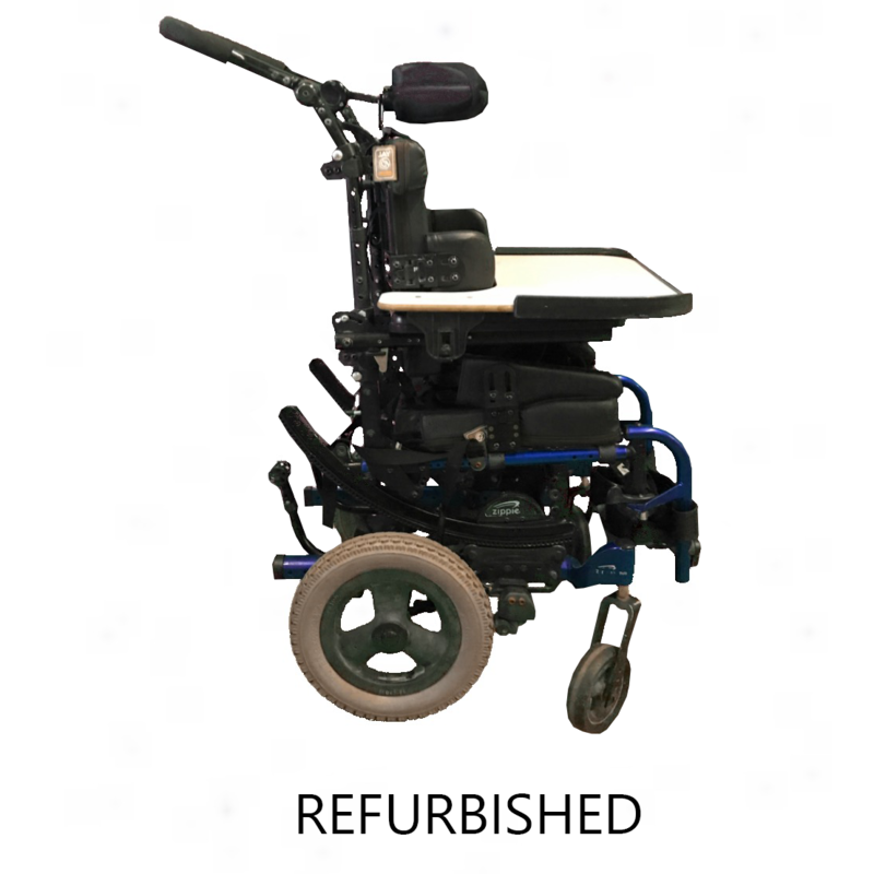 Refurbished Sunrise Quickie Iris Pediatric Tilt in Space Manual Wheelchair with Tray