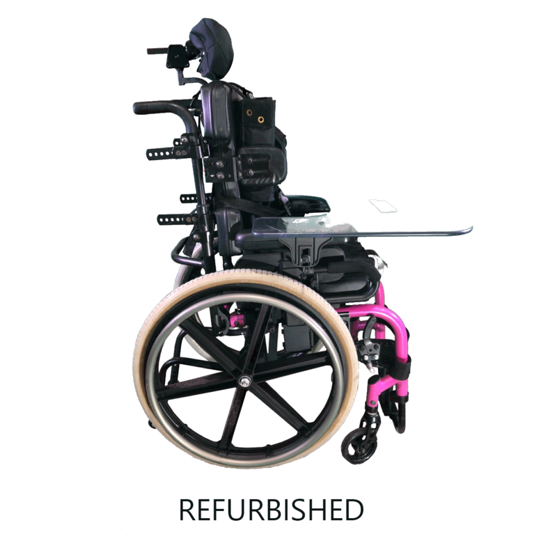 Refurbished Sunrise Medical Quickie Pediatric Wheelchair with Tray - Pink