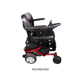 Refurbished Golden LiteRider Envy Portable Electric Wheelchair Cherry Red