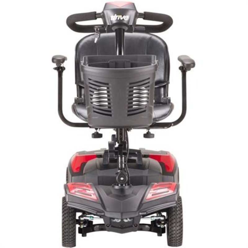Drive Medical Drive Scout Spitfire Compact Travel Mobility Scooter, 4 Wheel (Extended 20AH Battery)