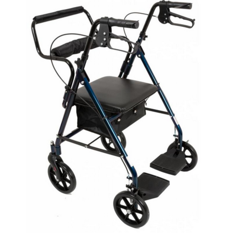 Refurbished Transport Chair to Rollator Combo
