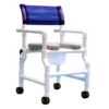 Refurbished PVC Rolling Shower Chair with Commode Opening