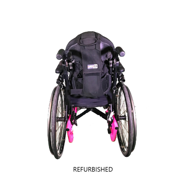 Refurbished Invacare Quickie 2 Pediatric Manual Wheelchair - Pink