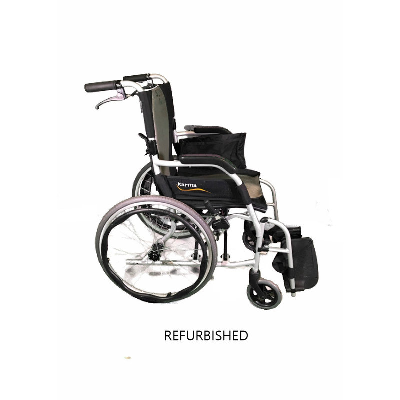 "Refurbished Karma Ergo Lite 2 Healthcare 17"" Manual Wheelchair"