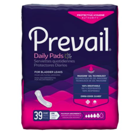 Prevail Daily Pads Maximum Absorbency - 39 Count