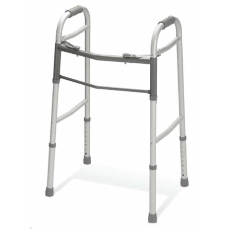 Medline Guardian Adult Walker, 2 Button, 300 lb capacity