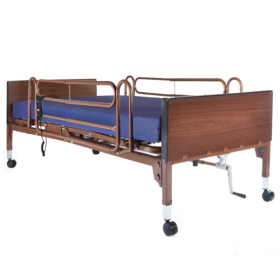 PMI Semi Electric Hospital Bed Package With Mattress, Bed Rails