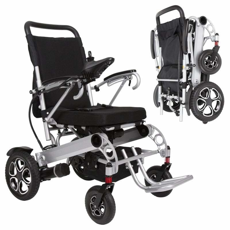 Vive Health Vive Deluxe Folding Power Wheelchair with Lithium Ion Battery