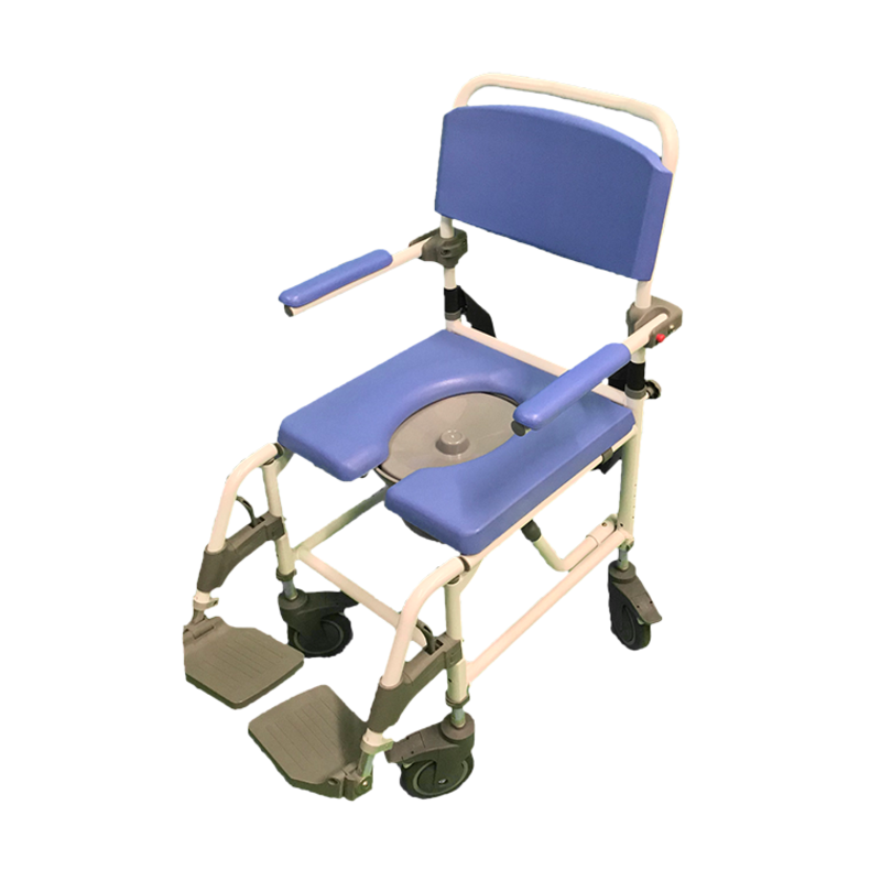 "Refurbished Healthline Ezee Life Rolling Shower Commode Chair (18"")"