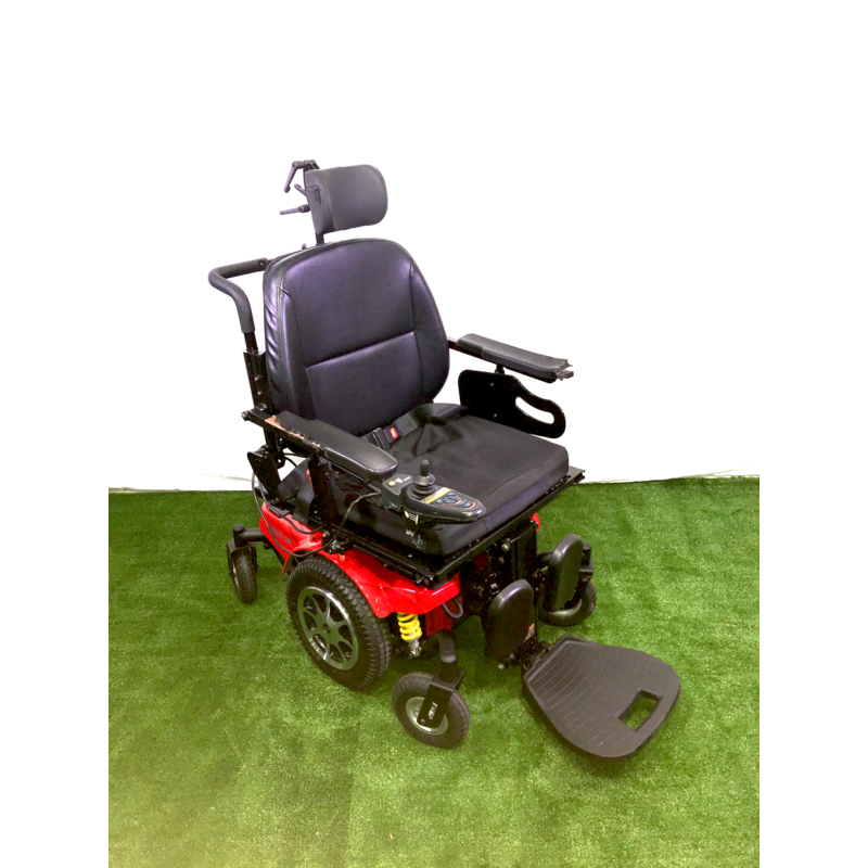 Merits Refurbished Merits Vector Power Wheelchair with Tilt and Recline, Working Batteries (Red Base)